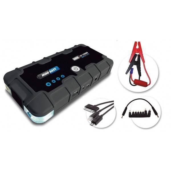 Mini arrancador de batería + Cargador MINIBATT ST12